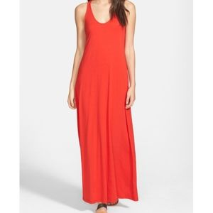 Splendid Tomato Racerback Maxi Dress - M